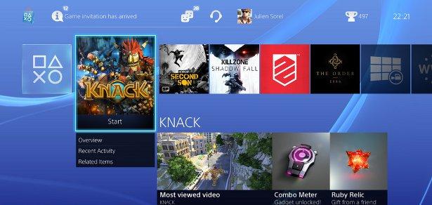 Новые снимки интерфейса Playstation 4