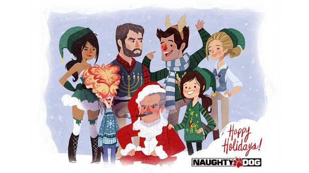 Новогоднее поздравление от Naughty Dog!