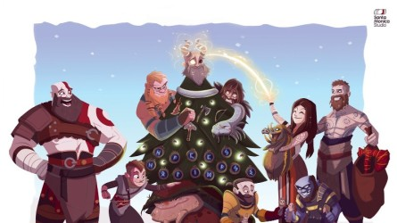 Праздничные открытки 2020 от разработчиков видеоигр
