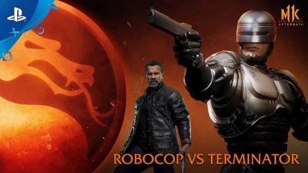 Геймплейный ролик Mortal Kombat 11: Aftermath – Робокоп против Терминатора