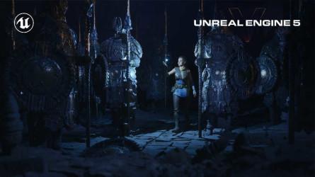 Демо Unreal Engine 5 запущенное на PlayStation 5