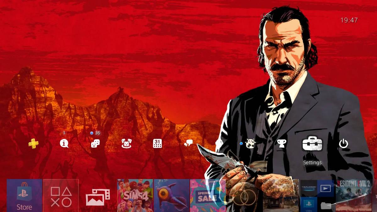 Динамическая тема Red Dead Redemption 2
