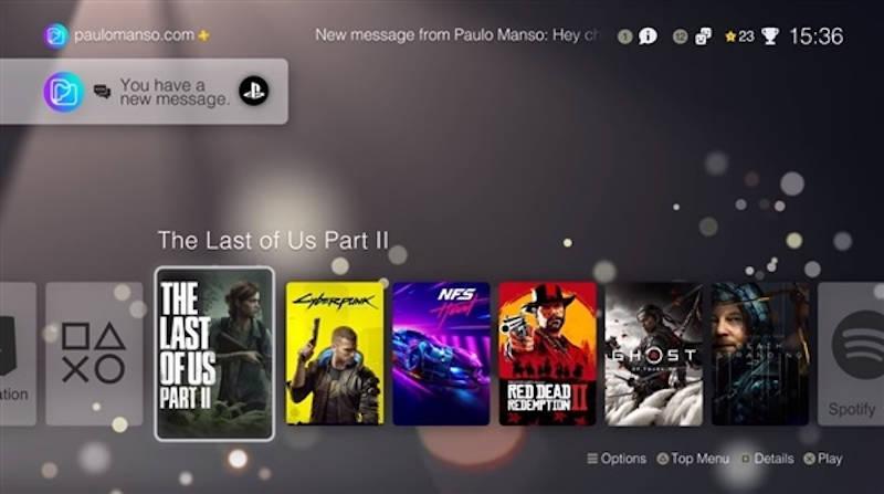 Интерфейс PlayStation 5