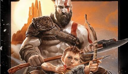 Постер God of War в стиле фильмов 80-х годов