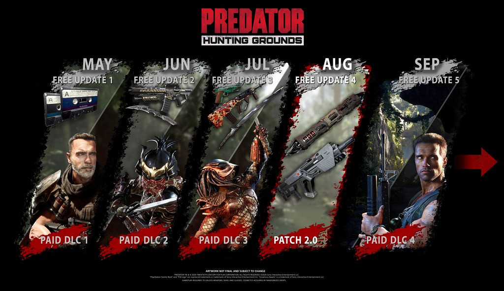 Predator: Hunting Grounds обновления