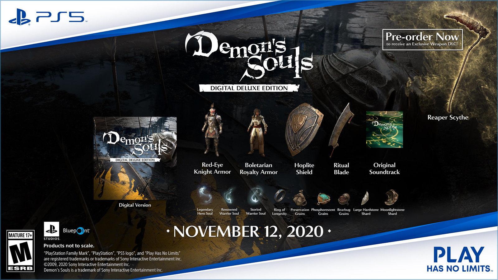 расширенное цифровое издание Demon's Souls для PS5