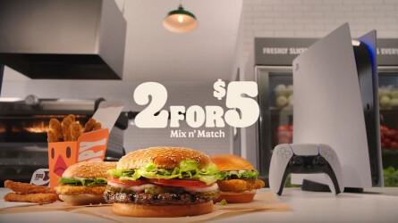 Burger King разыгрывает PlayStation 5 среди своих посетителей