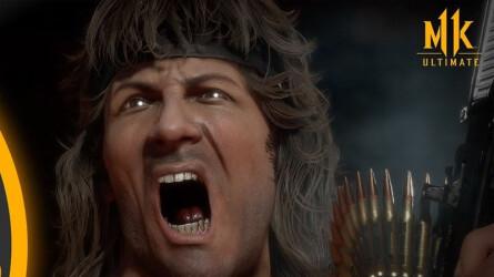 Геймплейное видео Mortal Kombat 11 — Рэмбо