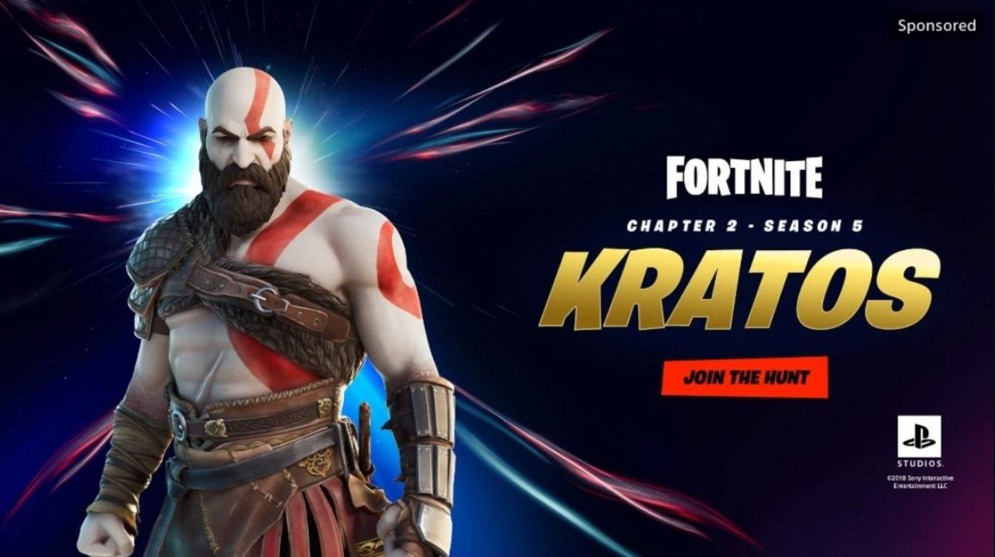 Кратос в Fortnite