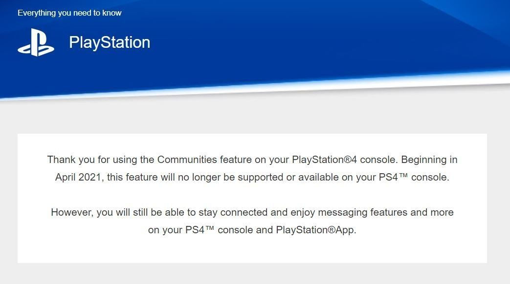 """""""Сообщества"""" на PS4"""