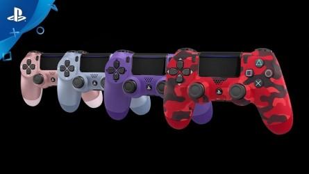 4 новые расцветки Dualshock 4 появятся этой осенью — Электро-пурпурный, Красный камуфляж, Титаново-синий и Розовое золото