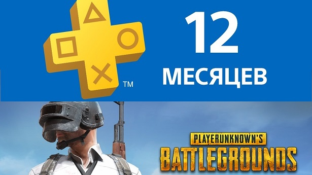 PUBG + PlayStation Plus на 12 месяцев