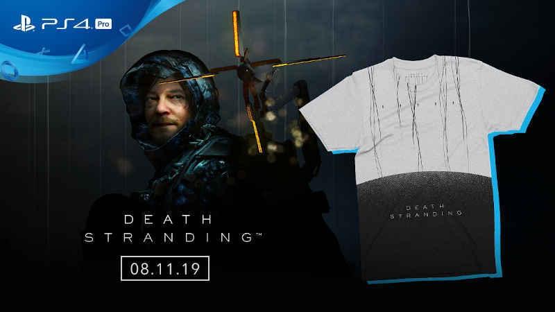 Оформив предзаказ коробочной версии Death Stranding можно получить эксклюзивную футболку в подарок